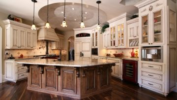 What materials are used to make luxury kitchen furniture